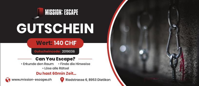 escape room zürich gutschein